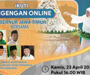 Gubernur Khofifah Sambut Ramadan Gelar Megengan Online