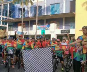 Machfud Arifin Gowes Bareng Komunitas Pecinta Olahraga Sepeda
