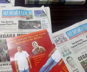 Leaflet Eri Cahyadi di Dalam Koran Memorandum, Pemred: Kita Kecolongan