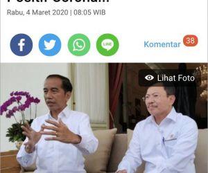 Pasien Positif Pertama Covid-19 di Indonesia Terpapar dari WNA
