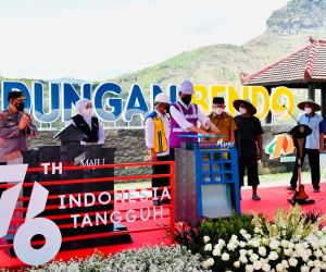 Jokowi Resmikan Bendungan Bendo Ponorogo